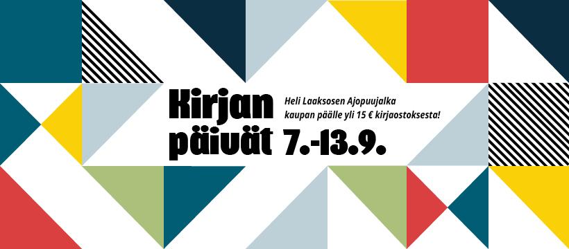 KIRJAN PÄIVÄT -KAMPANJA 7.-13.9.